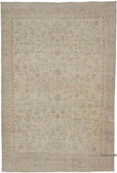 "Vintage Turkish Hand-knotted Area Rug - 6' 4"" x 9' 4"" (76 in. x 112 in.)"