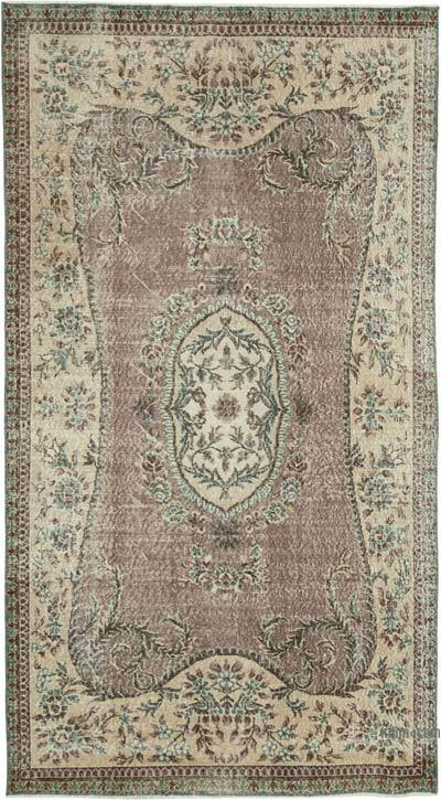 """Vintage Turkish Hand-Knotted Rug - 4' 10"""" x 8' 10"""" (58 in. x 106 in.)"""