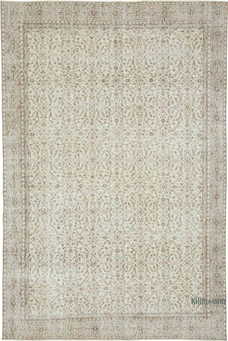 """Vintage Turkish Hand-Knotted Rug - 6' 6"""" x 9' 10"""" (78 in. x 118 in.) - K0048634"""