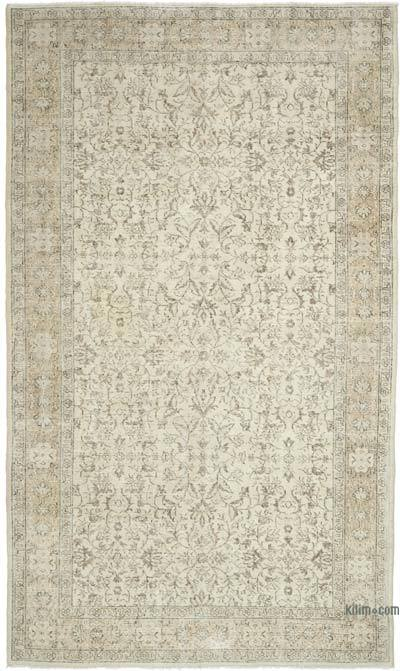 """Vintage Turkish Hand-knotted Area Rug - 5' 4"""" x 9' 1"""" (64 in. x 109 in.)"""