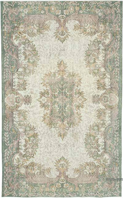 """Vintage Turkish Hand-knotted Area Rug - 5' 9"""" x 9' 10"""" (69 in. x 118 in.)"""