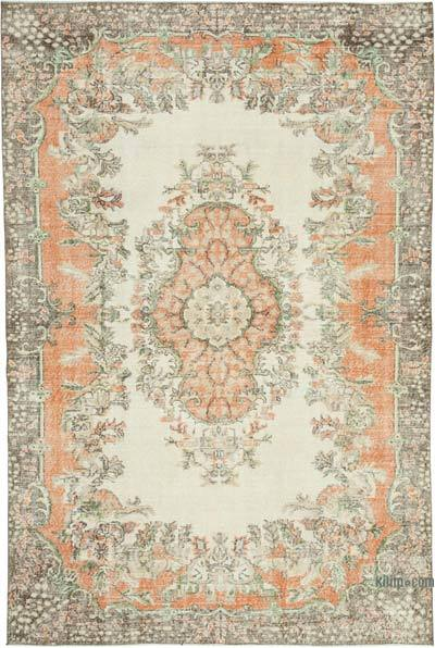 """Vintage Turkish Hand-knotted Area Rug - 6' 8"""" x 9' 11"""" (80 in. x 119 in.)"""