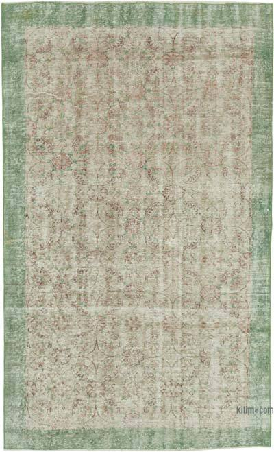 """Vintage Turkish Hand-Knotted Rug - 4' 11"""" x 8'  (59 in. x 96 in.)"""