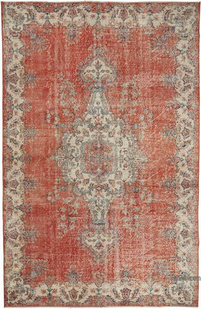 """Vintage Turkish Hand-Knotted Rug - 6' 2"""" x 9' 6"""" (74 in. x 114 in.)"""