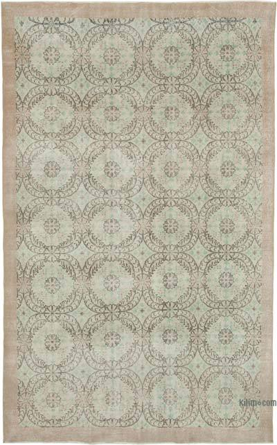 "Vintage Turkish Hand-knotted Area Rug - 6' 4"" x 10' 6"" (76 in. x 126 in.)"