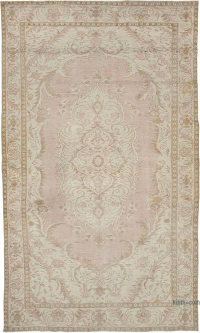 "Vintage Turkish Hand-knotted Area Rug - 6' 2"" x 10' 4"" (74 in. x 124 in.)"
