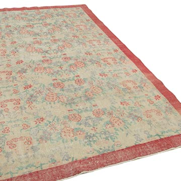 """Vintage Turkish Hand-Knotted Rug - 5' 5"""" x 8' 11"""" (65 in. x 107 in.) - K0048659"""