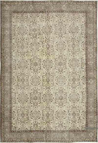 "Vintage Turkish Hand-knotted Area Rug - 6' 9"" x 9' 11"" (81 in. x 119 in.)"
