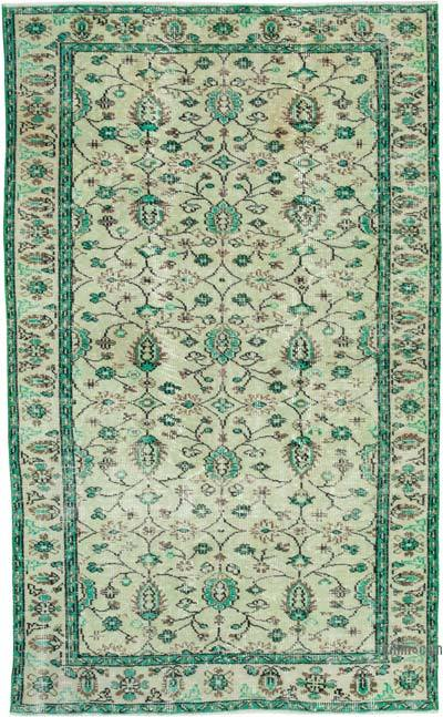 """Vintage Turkish Hand-knotted Area Rug - 5' 5"""" x 8' 5"""" (65 in. x 101 in.)"""
