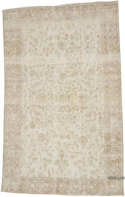 """Vintage Turkish Hand-knotted Area Rug - 6' 1"""" x 10' 1"""" (73 in. x 121 in.)"""