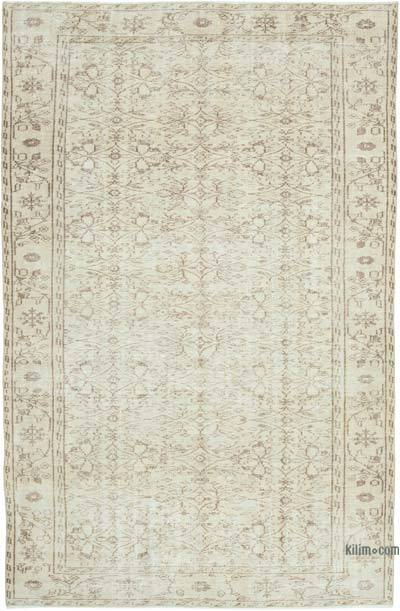 """Vintage Turkish Hand-Knotted Rug - 5' 9"""" x 9'  (69 in. x 108 in.)"""