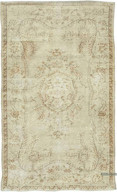 "Vintage Turkish Hand-knotted Area Rug - 5' 3"" x 8' 9"" (63 in. x 105 in.)"
