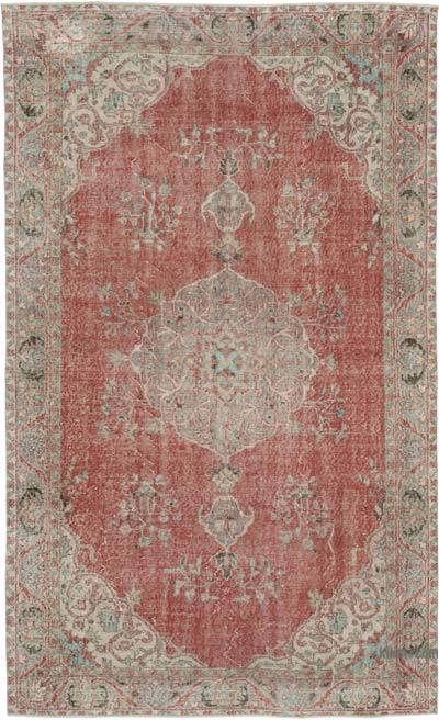 "Vintage Turkish Hand-knotted Area Rug - 5' 8"" x 9' 1"" (68 in. x 109 in.)"