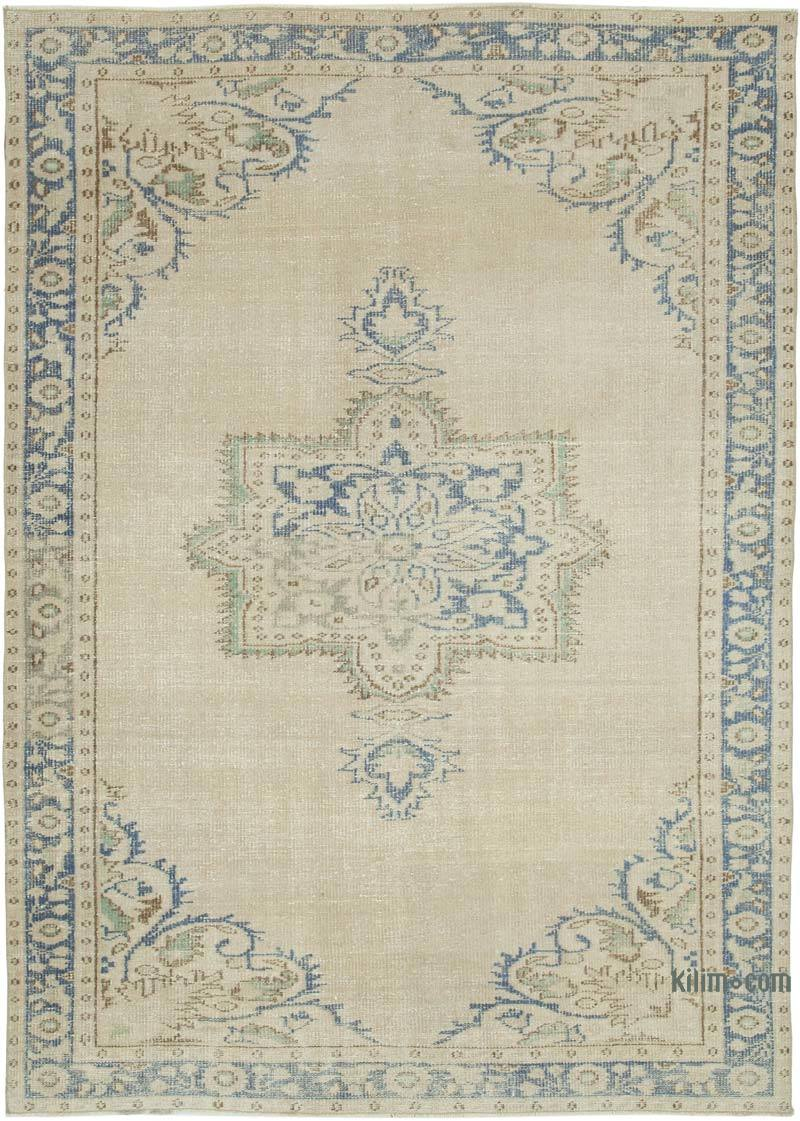 """Vintage Turkish Hand-Knotted Rug - 6'  x 8' 5"""" (72 in. x 101 in.) - K0048678"""
