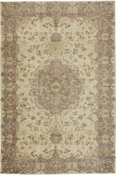 """Vintage Turkish Hand-knotted Area Rug - 6' 4"""" x 9' 4"""" (76 in. x 112 in.)"""