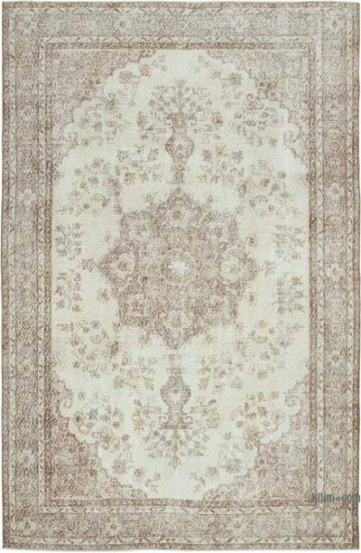 """Vintage Turkish Hand-knotted Area Rug - 6' 6"""" x 9' 10"""" (78 in. x 118 in.)"""