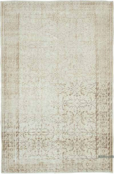 "Vintage Turkish Hand-knotted Area Rug - 5' 11"" x 9' 3"" (71 in. x 111 in.)"