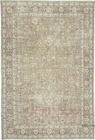 "Vintage Turkish Hand-knotted Area Rug - 6' 7"" x 9' 9"" (79 in. x 117 in.)"