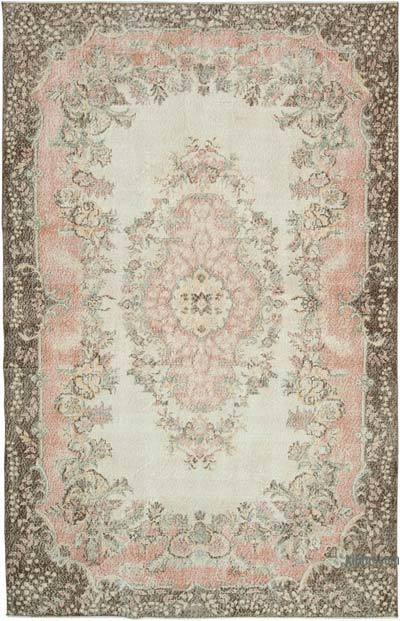 """Vintage Turkish Hand-knotted Area Rug - 6' 4"""" x 9' 11"""" (76 in. x 119 in.)"""