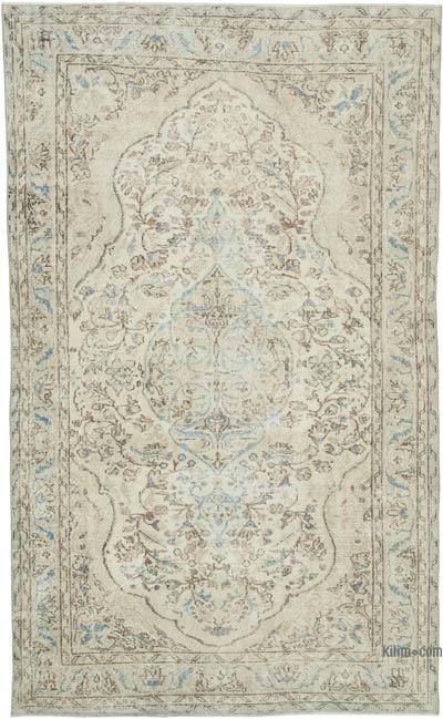 """Vintage Turkish Hand-knotted Area Rug - 5' 7"""" x 9' 2"""" (67 in. x 110 in.)"""