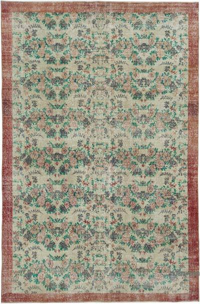 "Vintage Turkish Hand-knotted Area Rug - 6' 2"" x 9' 3"" (74 in. x 111 in.)"