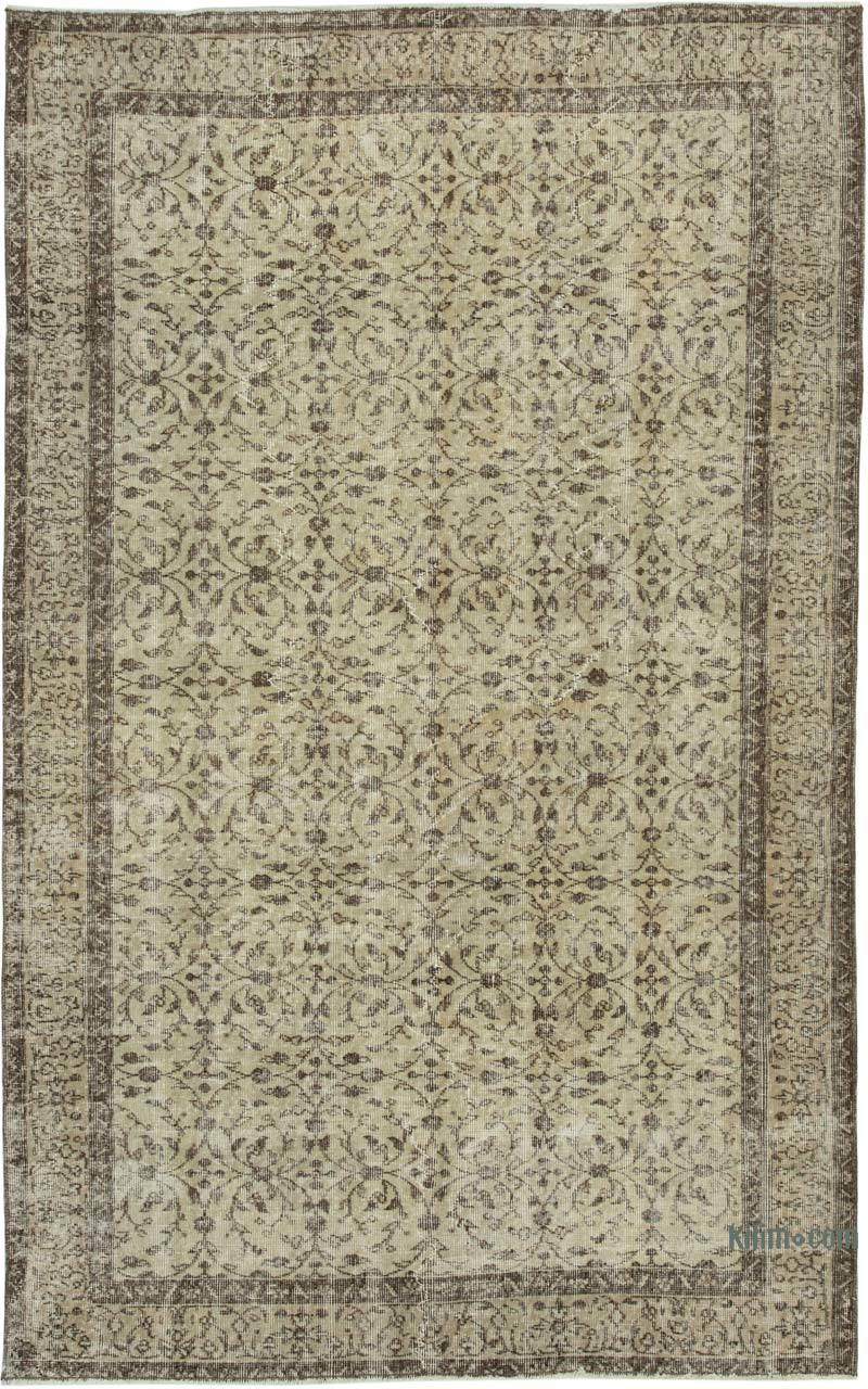 """Vintage Turkish Hand-Knotted Rug - 5' 1"""" x 8' 2"""" (61 in. x 98 in.) - K0048697"""