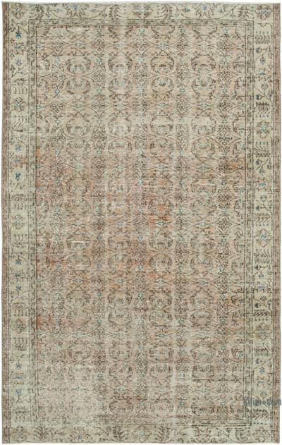 "Vintage Turkish Hand-knotted Area Rug - 5' 4"" x 8' 6"" (64 in. x 102 in.)"