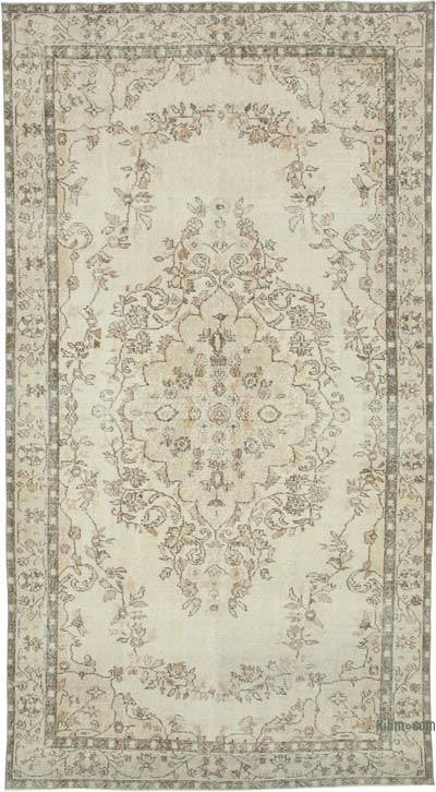 "Vintage Turkish Hand-knotted Area Rug - 5' 9"" x 10' 8"" (69 in. x 128 in.)"