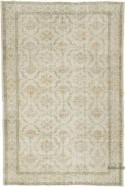 "Vintage Turkish Hand-knotted Area Rug - 6' 8"" x 10'  (80 in. x 120 in.)"