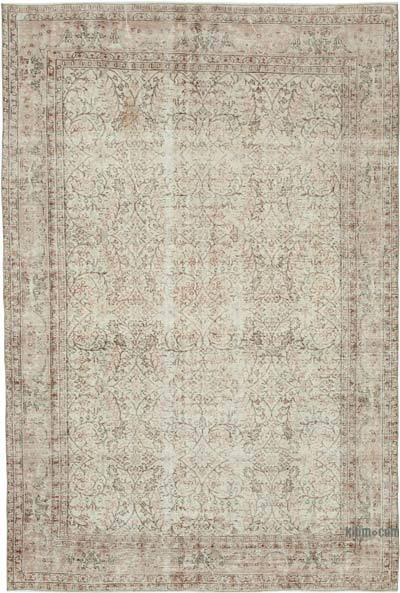 """Vintage Turkish Hand-knotted Area Rug - 6' 7"""" x 9' 11"""" (79 in. x 119 in.)"""