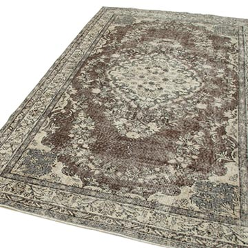 """Vintage Turkish Hand-Knotted Rug - 5' 6"""" x 9' 1"""" (66 in. x 109 in.) - K0048707"""