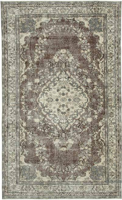 "Vintage Turkish Hand-knotted Area Rug - 5' 6"" x 9' 1"" (66 in. x 109 in.)"