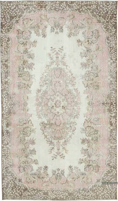 """Vintage Turkish Hand-knotted Area Rug - 5' 7"""" x 9' 6"""" (67 in. x 114 in.)"""