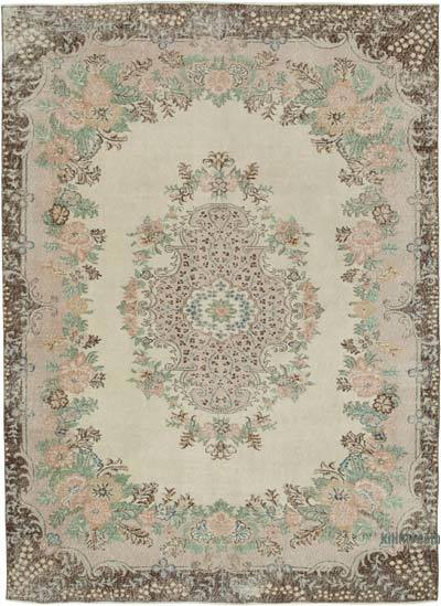 """Vintage Turkish Hand-knotted Area Rug - 7'  x 9' 8"""" (84 in. x 116 in.)"""