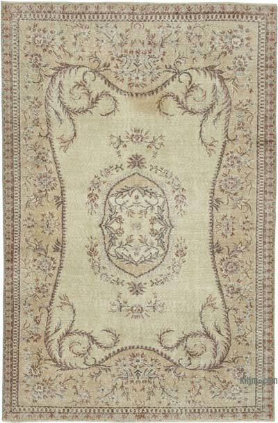 """Vintage Turkish Hand-Knotted Rug - 5' 6"""" x 8' 4"""" (66 in. x 100 in.)"""