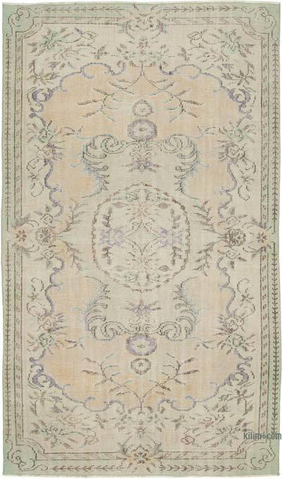 """Vintage Turkish Hand-knotted Area Rug - 5' 3"""" x 8' 10"""" (63 in. x 106 in.)"""
