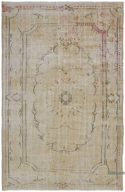 """Vintage Turkish Hand-Knotted Rug - 6' 3"""" x 9' 7"""" (75 in. x 115 in.)"""