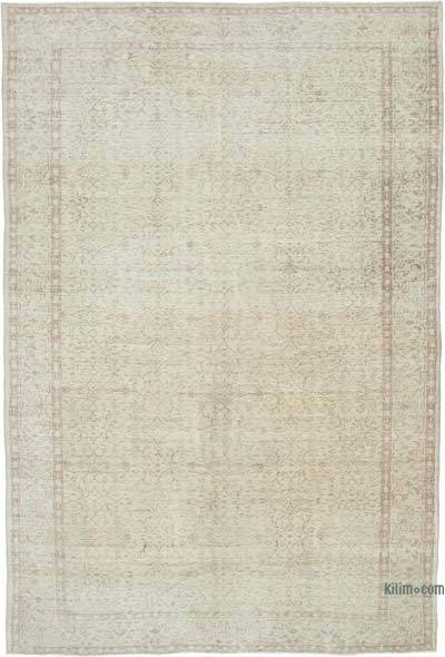 """Vintage Turkish Hand-knotted Area Rug - 6' 9"""" x 9' 7"""" (81 in. x 115 in.)"""