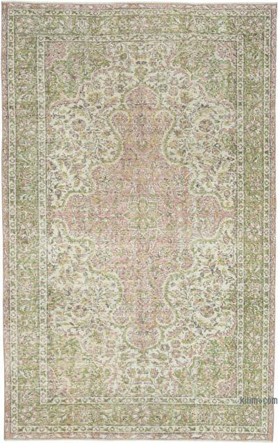 """Vintage Turkish Hand-Knotted Rug - 5' 5"""" x 8' 8"""" (65 in. x 104 in.)"""