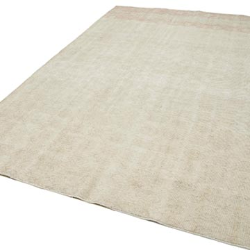 """Vintage Turkish Hand-Knotted Rug - 7' 1"""" x 10' 9"""" (85 in. x 129 in.) - K0048728"""