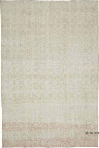 """Vintage Turkish Hand-knotted Area Rug - 7' 1"""" x 10' 9"""" (85 in. x 129 in.)"""