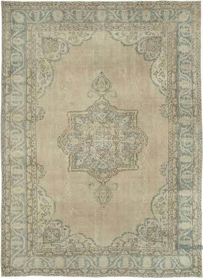 """Vintage Turkish Hand-knotted Area Rug - 7' 3"""" x 10'  (87 in. x 120 in.)"""