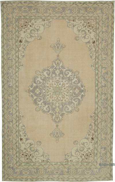 Vintage El Dokuma Anadolu Halısı - 206 cm x 340 cm