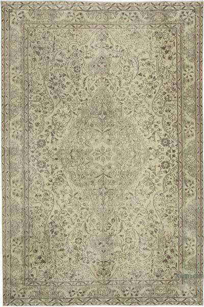 "Vintage Turkish Hand-knotted Area Rug - 6' 10"" x 10' 4"" (82 in. x 124 in.)"