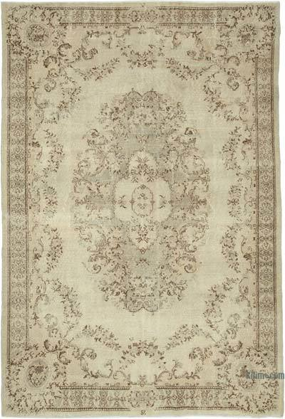 """Vintage Turkish Hand-Knotted Rug - 7' 3"""" x 9' 7"""" (87 in. x 115 in.)"""