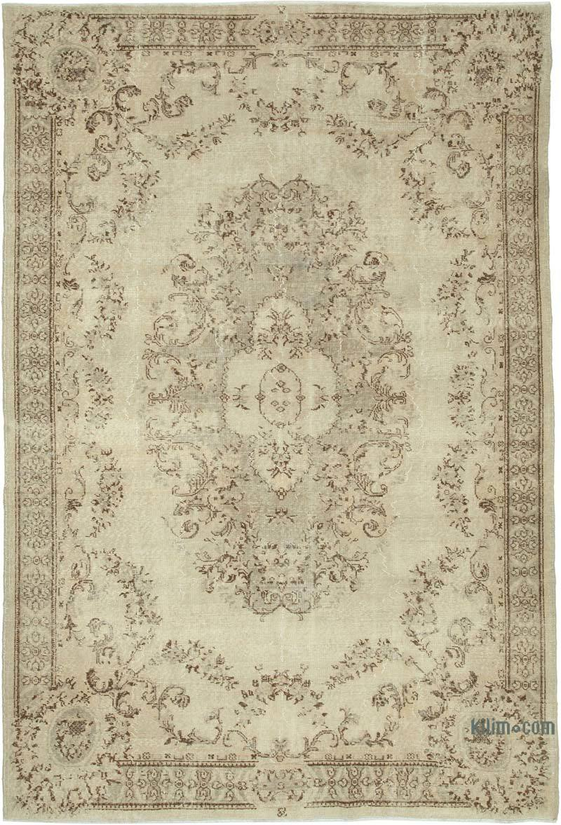 """Vintage Turkish Hand-Knotted Rug - 7' 3"""" x 9' 7"""" (87 in. x 115 in.) - K0048741"""