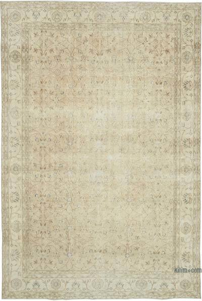 "Vintage Turkish Hand-knotted Area Rug - 7' 1"" x 10' 5"" (85 in. x 125 in.)"