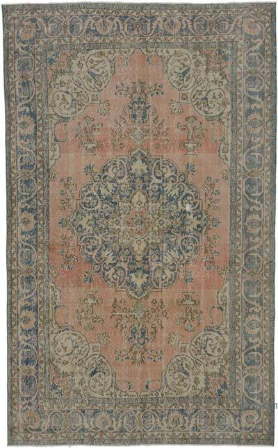 """Vintage Turkish Hand-knotted Area Rug - 6' 5"""" x 10' 8"""" (77 in. x 128 in.)"""