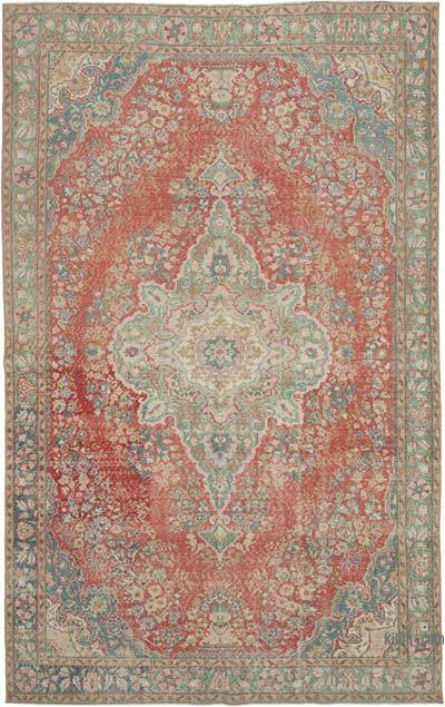 "Vintage Turkish Hand-knotted Area Rug - 6' 9"" x 10' 11"" (81 in. x 131 in.)"