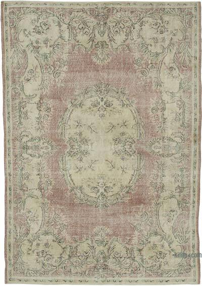 """Vintage Turkish Hand-knotted Area Rug - 7' 3"""" x 10' 2"""" (87 in. x 122 in.)"""